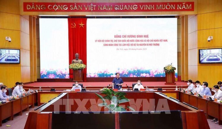 Chủ tịch Quốc hội làm việc với Bộ Tài nguyên và Môi trường về Luật Đất đai 2013