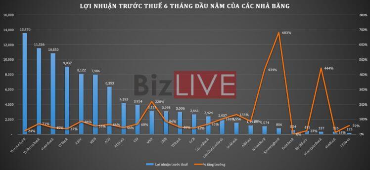 Ngân hàng Việt Nam 6 tháng đầu năm 2021 qua những con số