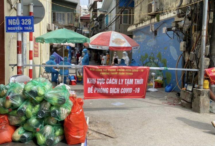 Quận Thanh Xuân: Phong tỏa tạm thời 700 hộ dân ngõ 328, ngõ 330 đường Nguyễn Trãi