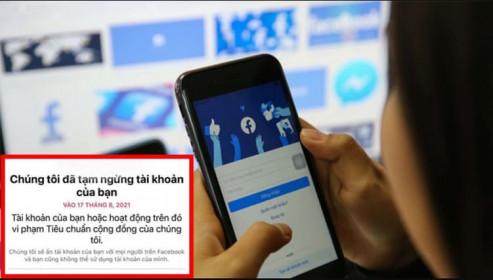 Facebook lên tiếng vụ khóa hàng loạt tài khoản người dùng