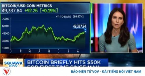 """Tin mới Bitcoin: Hàng loạt """"cá voi"""" đổ xômua Bitcoin khi giá vọt lên 50.000 USD"""