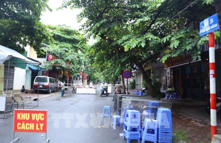 Hà Nội phong tỏa khu dân cư số 9, phường Giáp Bát, quận Hoàng Mai
